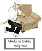 Minkstu baldu valymas